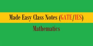 made easy class notes mathematics