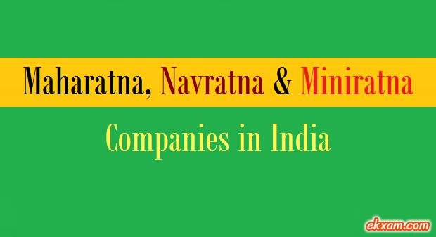 maharatana navratan miniratan companies india