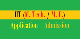 mtech application admission