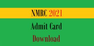 nmrc admit card