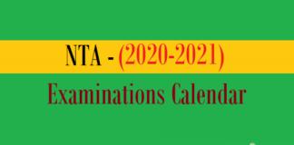 nta examinations calendar
