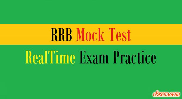 rrb mock test exam practice