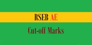 rseb ae cut off marks