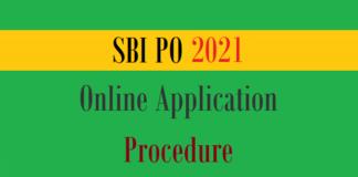 sbi po online application procedure