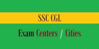 ssc cgl exam centers cities