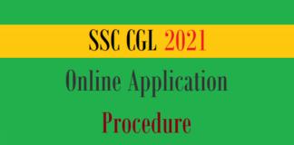ssc cgl online application procedure