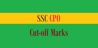 ssc cpo cut off marks