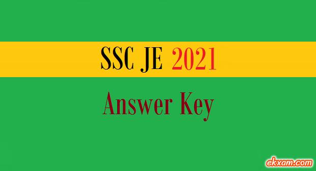 ssc je answer key