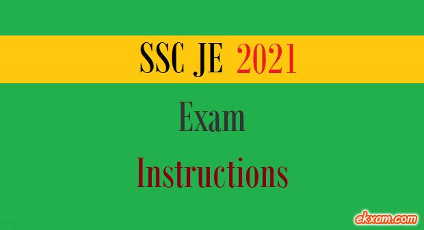 ssc je exam instructions