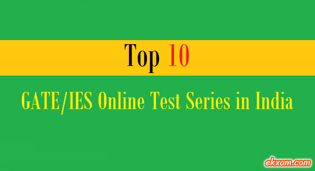 top 10 gate ies online test series india