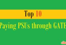 top 10 paying psus through gate