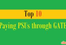 top 10 paying psus through gate
