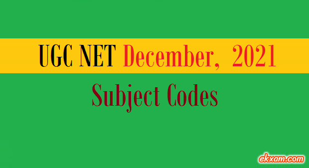 ugc net subject codes
