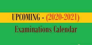upcoming examinations calendar