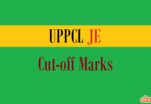 uppcl je cut off marks